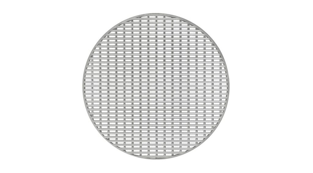 "Wedge Wire 5""x5"" Round Satin Stainless"