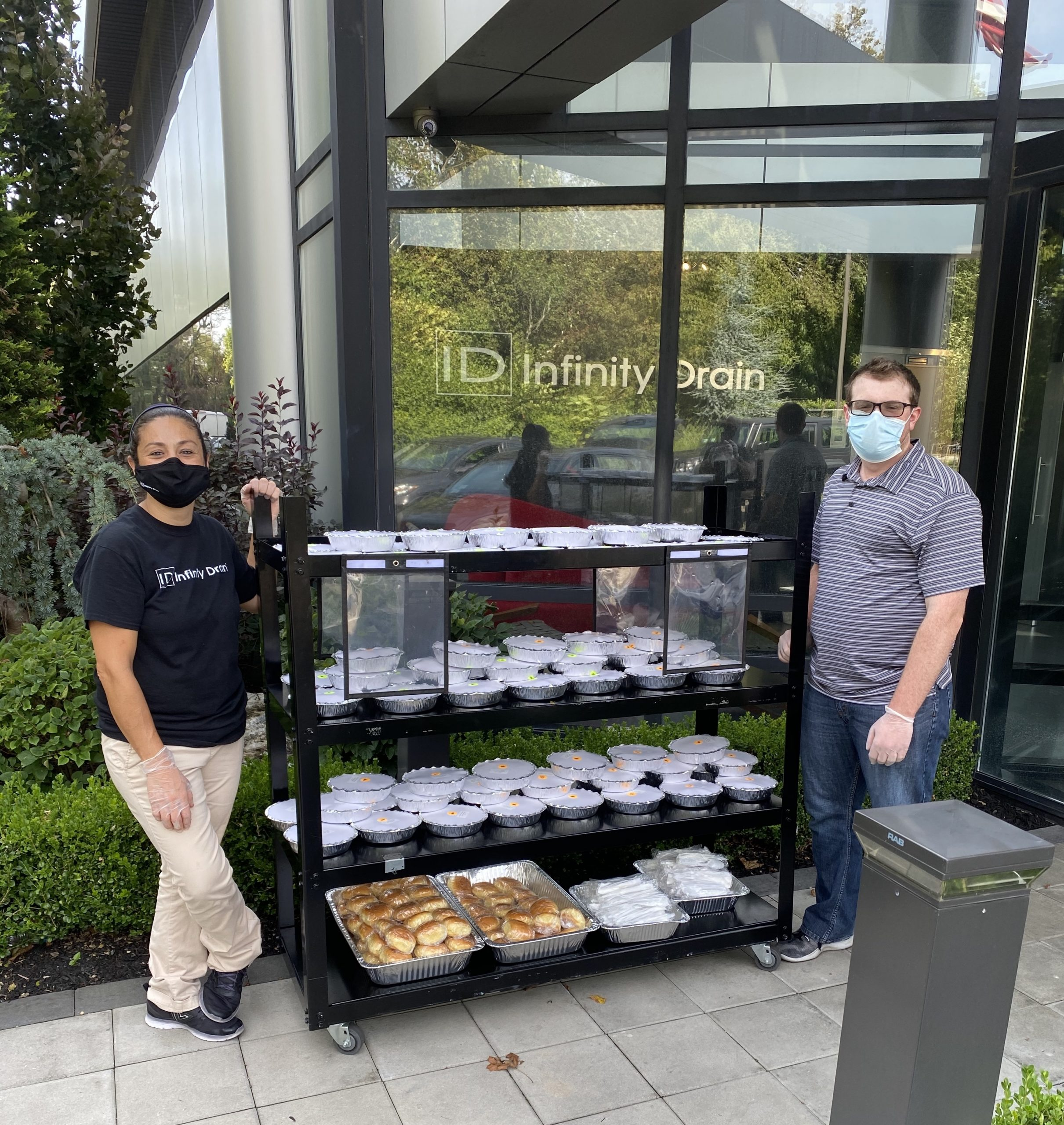 Infinity Drain Donating Meals