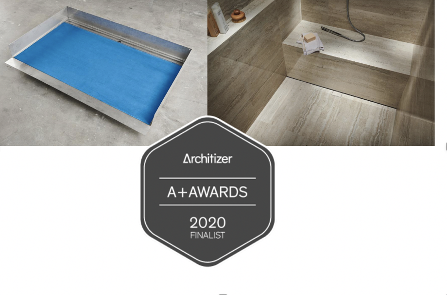 Infinity Drain® wins two Architizer A+ Finalist honors for Slot Linear Drain and for the Stainless Steel Shower Base