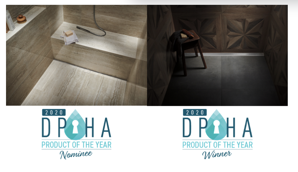 Infinity Drain® is Honored with 2 Decorative Plumbing and Hardware Association (DPHA) Awards for its Innovative Products in 2020