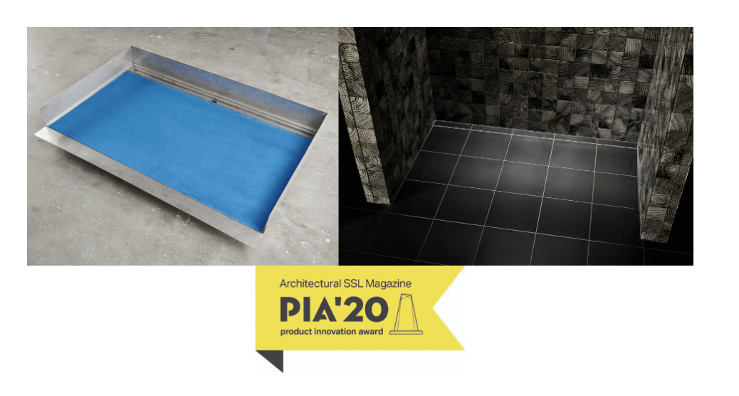Infinity Drain® is a Product Innovation Award (PIA) Winner for its revolutionary  Stainless Steel Shower Base