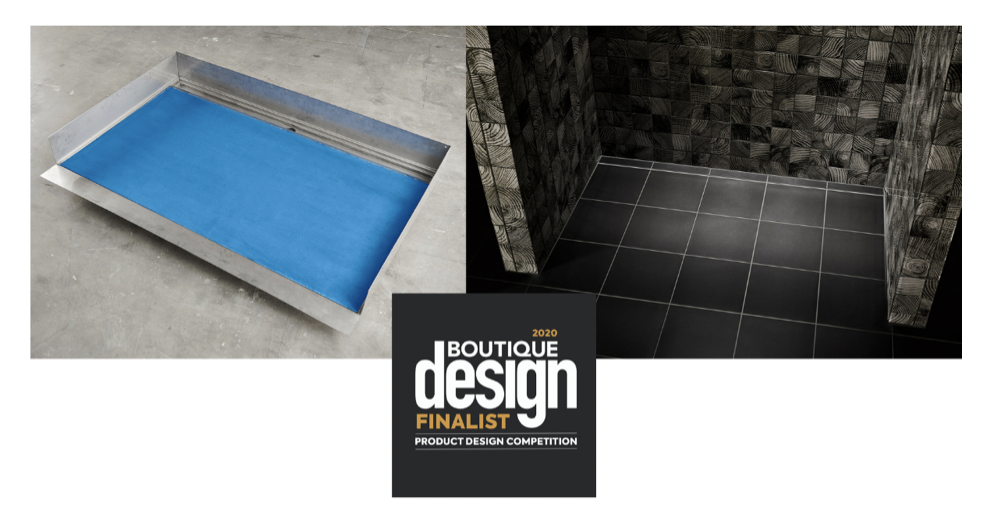 Infinity Drain® Wins a BD (Boutique Design) Product Design: Best of 2020  Finalist Award for its Stainless Steel Shower Base