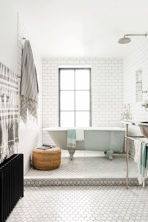 Wet Room with Subway Tile